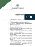 INSTRUÇÃO Nº 0012012