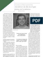 Entrevista a Daniel Férriz, profesor de tuba
