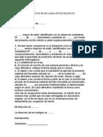 SOLICITUD DE DECLARACIÓN EXTRAJUICIO