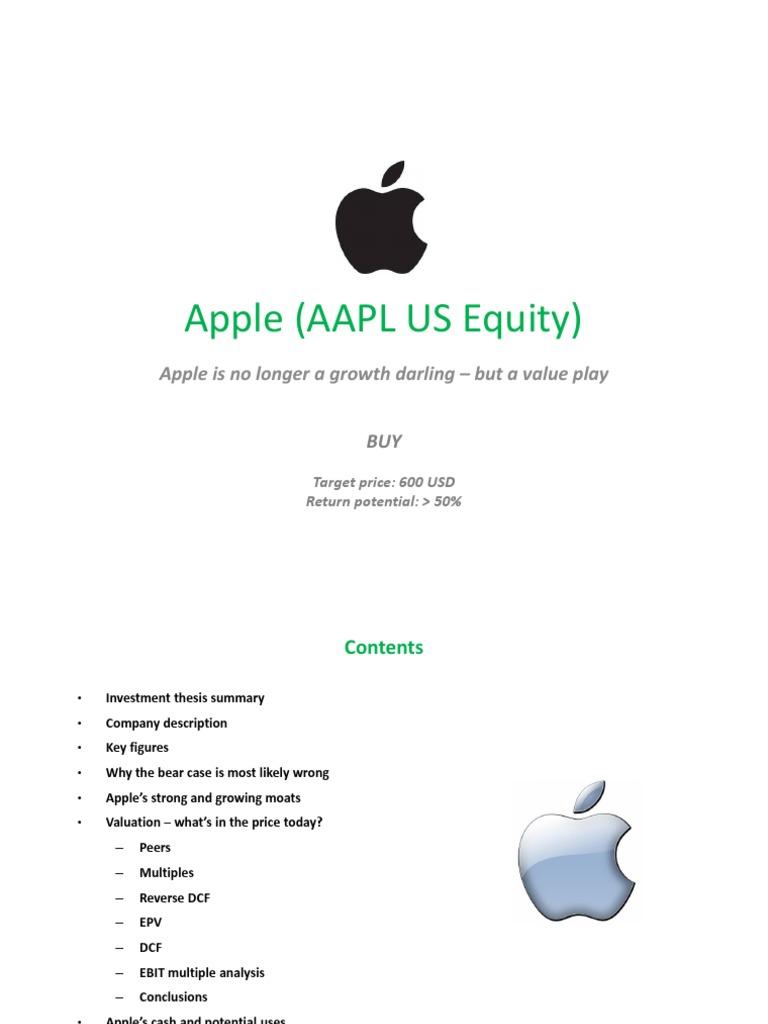 Apple Target Price of $600 | Klarmanite.com | Discounted Cash Flow ...