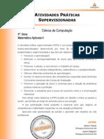 ATPS - 2013 1 Cienc Computacao 3 Matematica Aplicada II