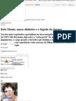 Revista Época - Belo Monte, nosso dinheiro e o bigode do Sarney - notícias em Sociedade