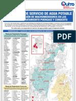 31-05-2013 Mapa de Suspensión en sectores abastecidos por las Plantas de Tratamiento Puengasí y Conocoto