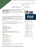 Sistema de autenticação de usuários em PHP usando sessões e MySQL