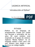 INTELIGENCIA ARTIFICIA introduccion al phyton