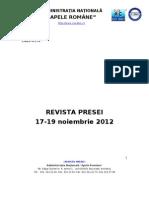 Revista presei 17-19 noiembrie  2012