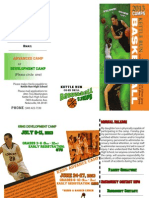 Kettle Run basketball camp brochure