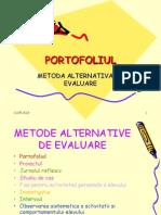 Portofoliulmetoda Alternativa de Evaluare
