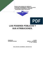 Los Poderes Publicos y Sus Atribuciones