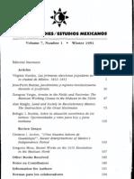 Virginia Guedea. Las primeras elecciones populares en la ciudad de México. 1812-1813