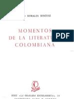 Otto Morales Benitez - Momentos de La Literatura Colombiana