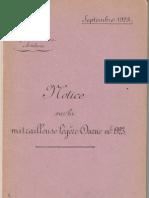 Darne Mle 1923 Manual (French, 1923)
