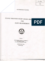 ISA RP3.2 (1960) Flange Mounted Sharp Edged Orifice Plate for Flow Measurement
