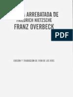 82805065 Overbeck Franz La Vida Arrebatada de Friedrich Nietzsche