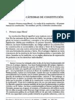 Mariano Peset y Pilar García Trobat. Las primeras cátedras de Constitución