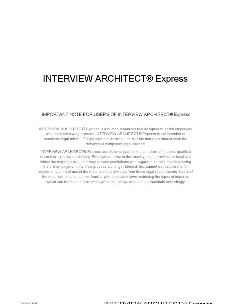 sample interview plan interview