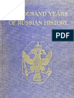 A Thousand Years of Russian History - Sonia E Howe 1917