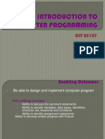 Introduction to Computer Programming1