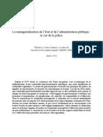 Le Texier - Managérialisation de la police (2013)
