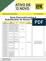 Itens Descontinuados - LuK