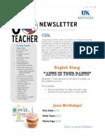 UK Go Teacher Ecuador - June 2013 Newsletter