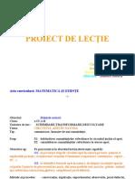 Proiect de Lectie Stiinte Cl.4 Lectie Deschisa Cami