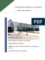 Reporte de lectura, interculturalidad y educación en Perú