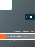 Informe Final de Laboratorio de Circuitos Electricos I N°3