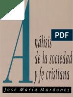 Analisis de La Sociedad y Fe Cristiana Mardones