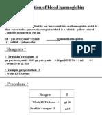 Estimation of Blood Haemoglobin