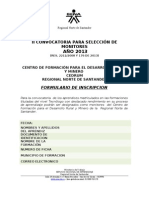 FORMATOS INSCRIPCION MONITORIAS