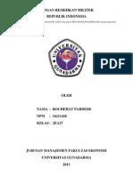MAKALAH III KETAHANAN NASIONAL TOPIK JANGAN REMEHKAN MILITER REPUBLIK INDONESIA.docx