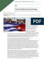 EE UU mantiene a Cuba en la lista de países terroristas _ Internacional _ EL PAÍS