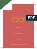 Pereira Americo Louis Lavelle Senda Milenar Tradicao Metafisica