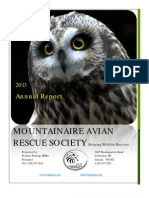 Mountainaire Avian Rescue Society (MARS) 2013 Annual Report