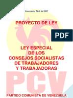 Ley de Los Consejos Sociales de Los Trabajadores PCV