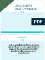 Management Inforemation System