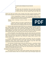 Teori Akuntansi Normatif Dan
