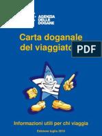 Carta Viaggiatore Finale - Uffico Dogane