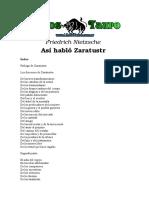 Nietzsche, Friedrich - Asi Hablo Zaratustra