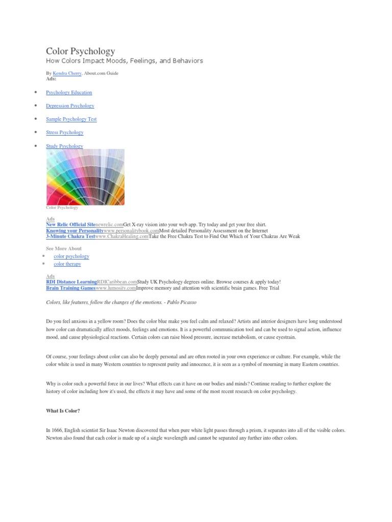 Color Psychology   Color   Emotions