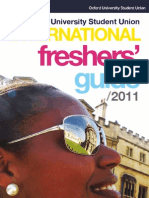 Oxford University International Freshers' Guide [2011]