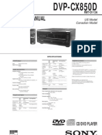 Sony DVP-CX850D Service Manual