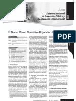 El Nuevo Marco Normativo Regulador Del SNIP