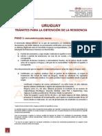 URUGUAY - TRAMITES OBTENCION RESIDENCIA LEGAL