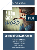 Faith Bible Spiritual Growth Guide June 2013