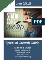 Faith Bible Spiritual Growth Guide June 2013