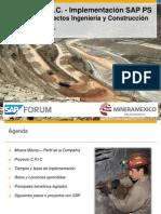 Control de costos y manejo de proyectos de inversión en la plataforma SAP  Grupo México