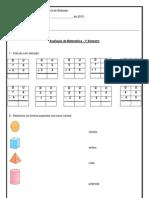 avaliação matemática 2 ano 1 bimestre