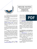 2013 House Notes - Week 8